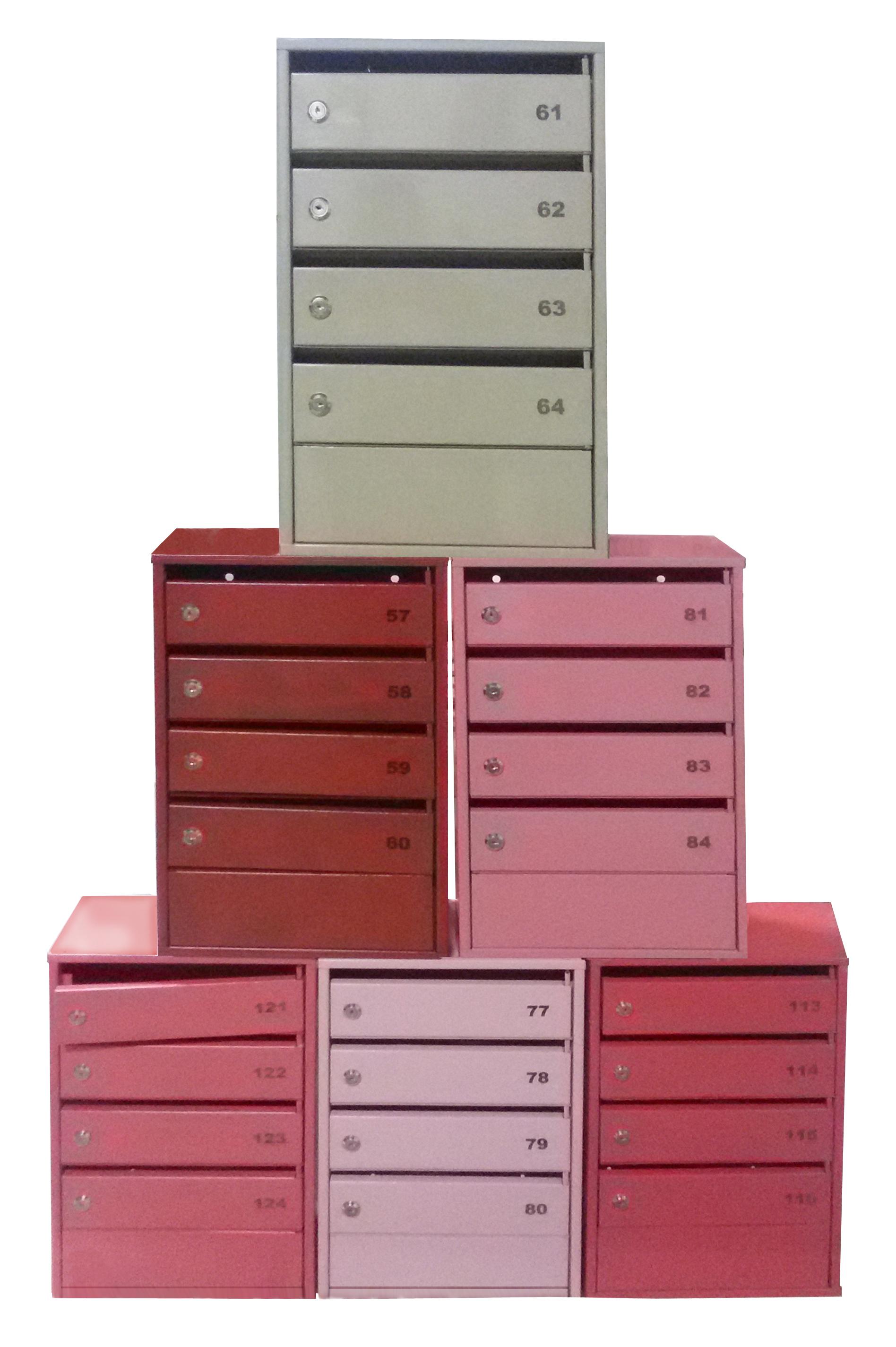 Почтовые ящики цветные