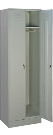 Шкаф для одежды двухстворчатый из металла